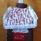 Christmas Gingerbread Candy Cane Tissue Box Cover Holder 5 X 5 New Handmade