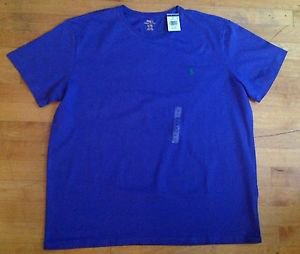 Polo Ralph Lauren Brand New With Tag Purple  STANDARD FIT CREWNECK  T- Shirt