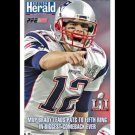 New England Patriots SUPER BOWL LI THE GREATEST 5X  CHAMPS Commemorative POSTER