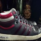 Adidas Top Ten Hi Top Sneakers Grey/ Purple Size 5.5 Youth