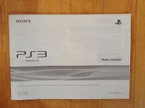 Sony PS3  Guide/ Manual / Mode d' emploi  in French  Language