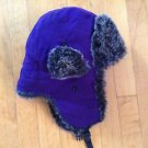 City Hunter  Winter Purple Trapper , Ear Flaps Bomber , Aviator Trapper One Size