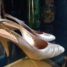 Rafina  Ferragamo  Schiqvore  Tan Leather/ Suede  Vintage Slingback's  Heels