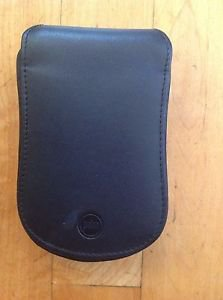 Palm Pilot/PDA Leather Black Carrying Case /Pouch with Velcro Belt Clip Vintage