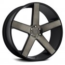 24x10 DUB Wheels +31 | 6x139.7 | 78.1 BALLER Rims Black (Set of 4)