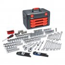 "GearWrench - 219 Pcs. 1/4"", 3/8"", 1/2"" Drive Metric, SAE Socket and Ratchet Set"