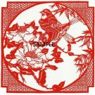 RED BIRDS FRAME CROSS STITCH CHART