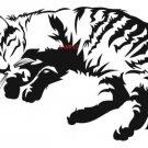 FLUFFY CAT ASLEEP CROSS STITCH CHART