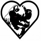 RETREIVER HEART CROSS STITCH CHART