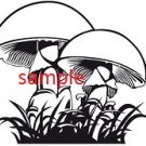 Mushrooms Cross Stitch Chart