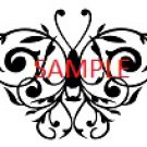 BLACK LACE BUTTERFLY CROSS STITCH CHART