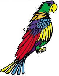 COLOURFUL PARROT CROSS STITCH CHART