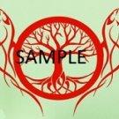 WOLFS AND TREE CROSS STITCH CHART