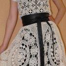 Handmade Crochet 100% Cotton Tea Dress size M