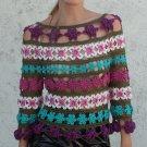 Handmade Summer Crochet Lace Microfiber Boho Crop Top size M