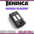 Beninca TO.GO 2WV/2WP 433.92MHz OEM Remote Control Transmitter Rolling Code Gate