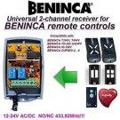 BENINCA IO.2WV, CUPIDO-2 Compatible 2-channel Receiver 12-24V AC/DC 433.92MHz