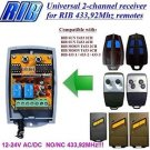 RIB SUN MOON T433 433 1/2/3 Compatible 2-channel Receiver 12-24V AC/DC 433.92MHz