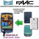 FAAC T4 433LC/TE4433H, XT4 Compatible 2-channel Receiver 12-24V AC/DC 433.92MHz