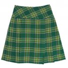 Traditional Irish National Tartan Highland Scottish Mini Billie Kilt Mod Skirt 34 Size