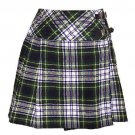 Ladies Dress Gordon Tartan Kilt Scottish Mini Billie Kilt Mod Skirt Size 30