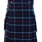 Size 40 Scottish Highland Mackenzie Tartan Kilt Traditional 5 Yards Mackenzie Tartan Kilt