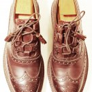 USA Size 8 Brown Traditional Kilt LEATHER SHOES Brown GHILLIE BROGUES Leather Sole with lasses