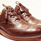 UK Size 9 Brown Traditional Kilt LEATHER SHOES Brown GHILLIE BROGUES Scottish