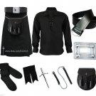 Size 32 Black Tartan Utility Kilt Deal Sporran Kilt Belt Kilt Hose Kilt Pin Kilt Flashes