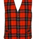 Size 44 Traditional Highland RED Wallace Tartan Vest Premium Qyality Scottish Kilt Jacket Vest