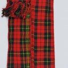 Scottish Kilt Fly Plaids Wallace Tartan Piper Fly Plaid 3 /1/2 Yards Uniform