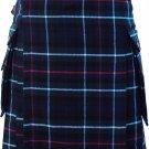 """Mackenzie Tartan Kilt  with Cargo Pocket Traditional Highlands Mackenzie Tartan Kilt 36"""""""