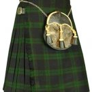 50 Waist Traditional Highland Scottish Black Watch Tartan Kilt-Skirt