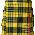 50 Size Utility Pocket Mcleod of Lewis Tartan Modern Kilt Scottish Highlander Wears