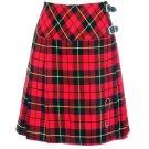 Size 30 Ladies Wallace Tartan Pleated Kilt Knee Length Skirt in Wallace Tartan