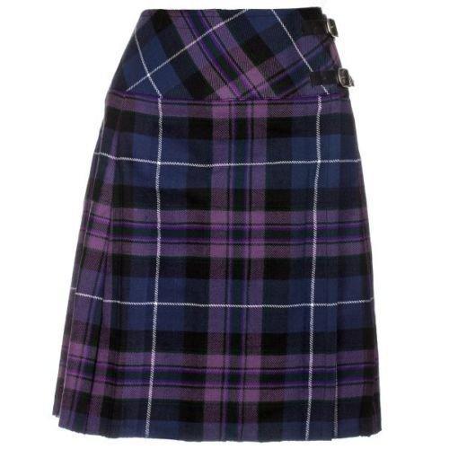 30 Size Ladies Billie Pleated Kilt - Knee Length Long Skirt Pride of Scotland Tartan