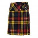 Size 30 Ladies Billie Pleated Kilt Knee Length Skirt in Buchanan Tartan