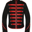3XL Size Men Black Parade Military Marching Band Drummer Jacket