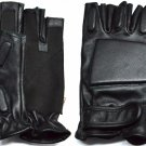 LARGE MEN SOLID LEATHER POLICE STYLE SWAT TACTICAL MOTORCYCLE GLOVES