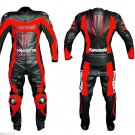 RED Motorcycle RACING Leather Suit Jacket Hump Pants For Kawasaki