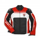 MENS RED BLACK MOTORBIKE RACING MOTOGP LEATHER JACKET SAFETY PADS