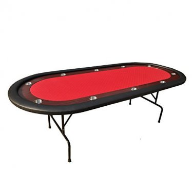 "96"" Casino Poker Table Texas Holdem Folding Legs"