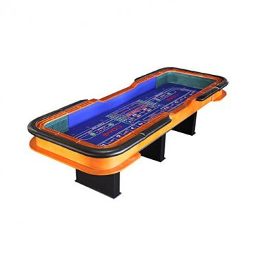12 Foot Deluxe Craps Dice Table with Diamond Rubber Blue