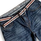 Mens Selvedge Cotton Japan Rope Dyed Denim Mid Wash