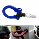 Aluminum Track Racing Towing Hook Auto Trailer Ring Eye Towing Kit Blue