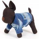 Pet Clothes Jean Denim Dog Coat Puppy Apparel Cat Clothing