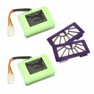 Battery and HEPA for Neato VX-11 VX-21 VX-15 VX-12 Vacuum cleaner 7.2V 4500mAh