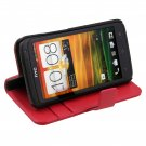 R Book Type Flip Stand PU Leather Wallet Skin Case For HTC One X