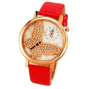Fashion Women's Watches Leather Stainless Steel Quartz Analog Wrist Watch