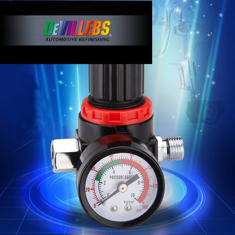 1/4 MF-05 Spray Gun Pressure Gauge Gage Air Control Compressor Pressure Regul...